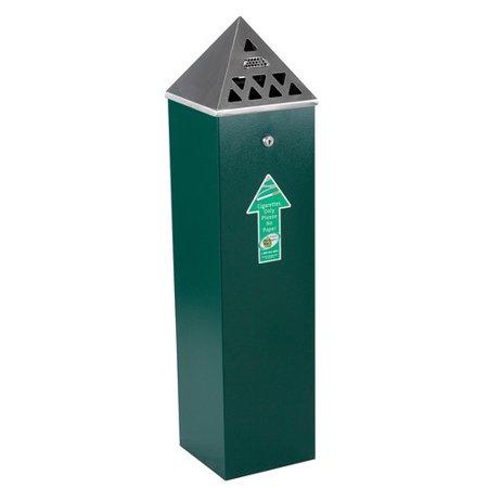 - No Butts Bin Co. Pyramid Top Tower Outdoor Ashtray