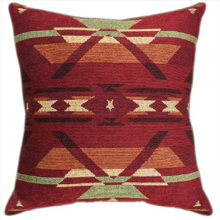 Set of 2 Flame Red Southwestern Tapestry Throw Pillows 23 Inch (Flame Throw Pillow)