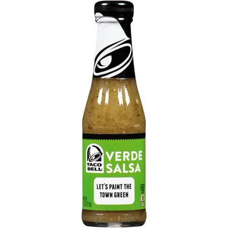 (3 Pack) Taco Bell Verde Salsa Sauce, 7.5 oz - Three Banditos Salsa