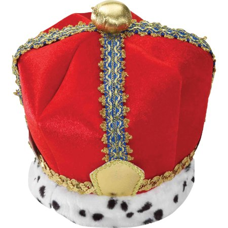 Velvet King Crown Adult Halloween Accessory