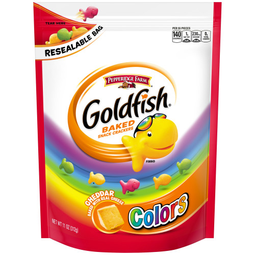 Pepperidge Farm Goldfish Colors Cheddar Crackers, 11 oz. Re-sealable Bag