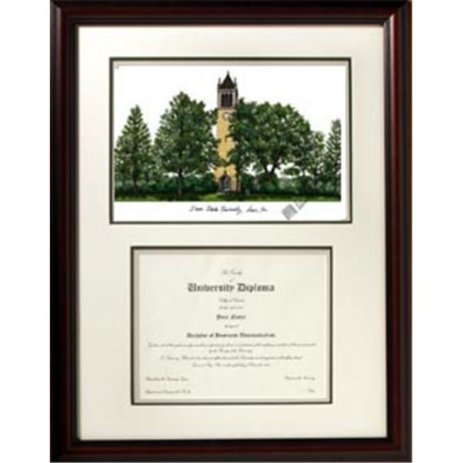 Campus Images IA998V Iowa State University ''Scholar'' Lithograph and Diploma Frame