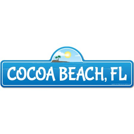 Cocoa, FL Florida Beach Street Sign | Indoor/Outdoor | Surfer, Ocean Lover, Décor For Beach House, Garages, Living Rooms, Bedroom | Signmission Personalized