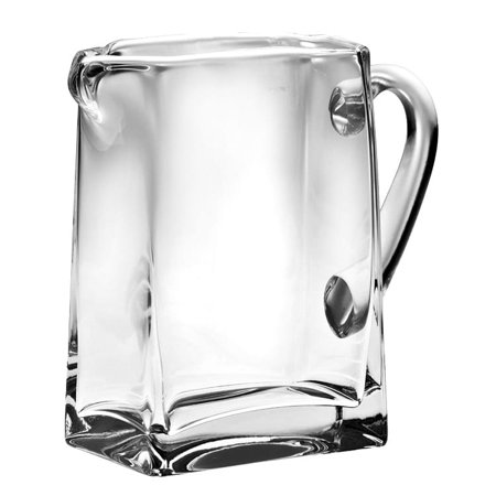 Clear Glass Pitcher - Majestic Gifts Inc. Majestic Gifts Clear European Glass Rectangular Pitcher with Handle