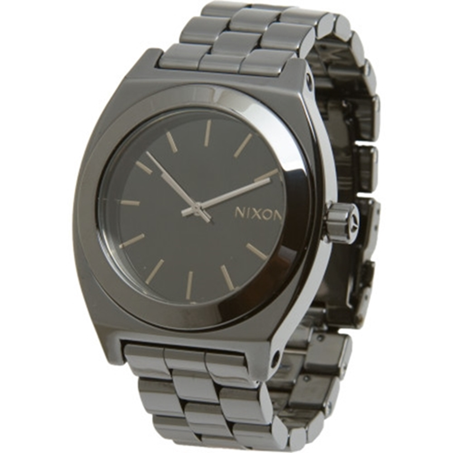 Nixon Black Dial Stainless Steel Band Quartz Mens Watch A...
