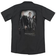 Person Of Interest Cast (Back Print) Mens Work Shirt