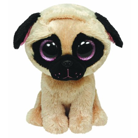 TY Beanie Boos - PUGSLY the Pug Dog (Glitter Eyes) (Regular Size - 6 inch)