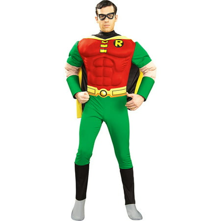 Retro Batman And Robin Costumes (Batman and Robin Deluxe Muscle Chest