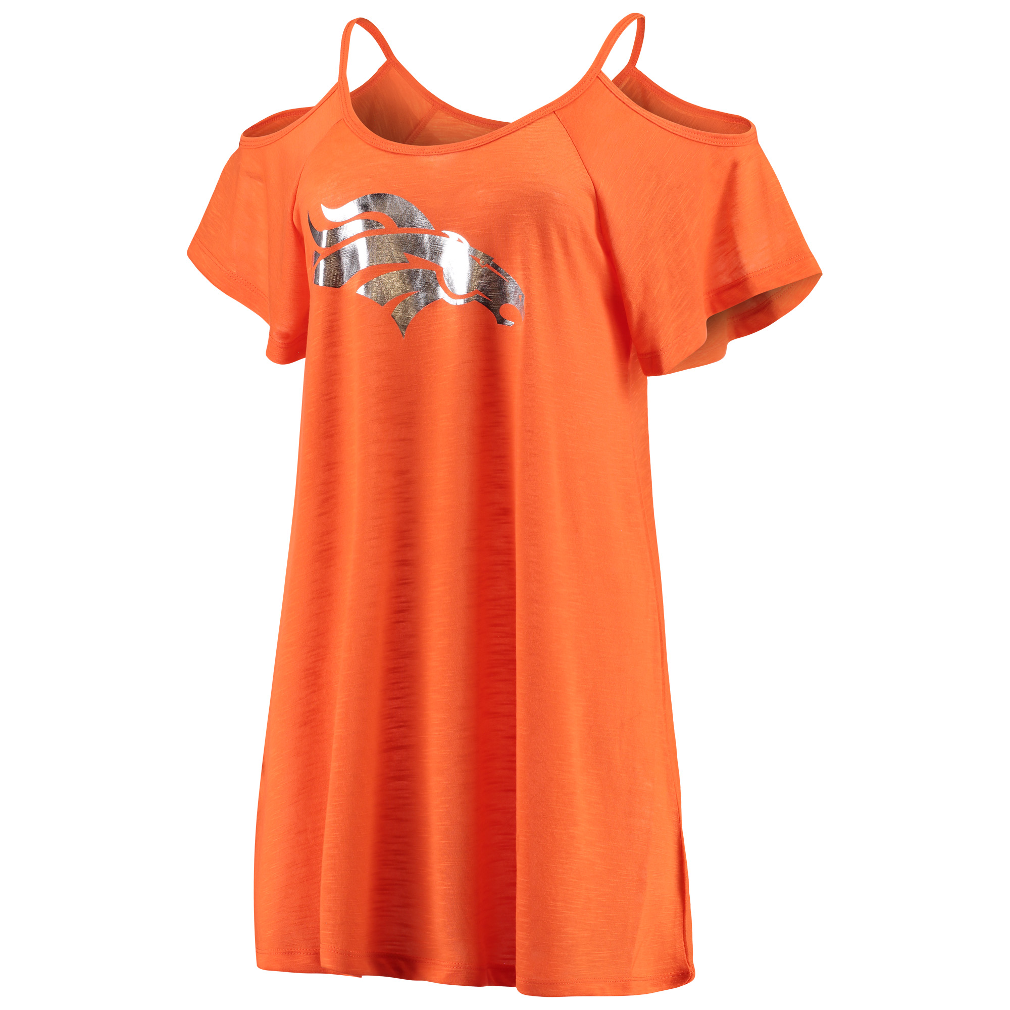 Denver Broncos G-III 4Her by Carl Banks Women's All In Cold Shoulder Dress - Orange
