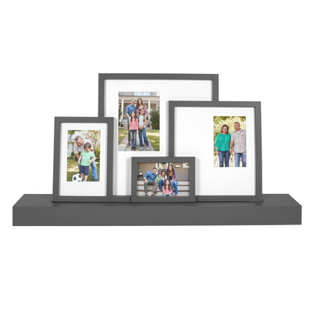 Mainstays Photo Collage with Shelf, Gray