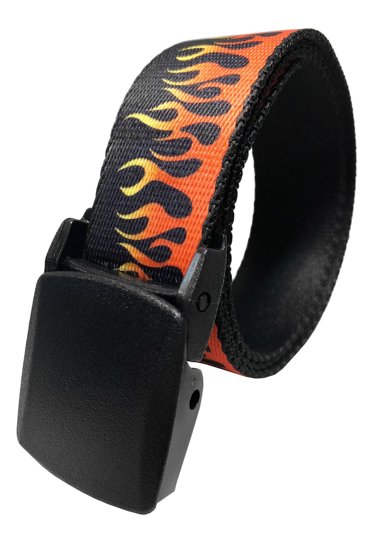 Boys School Uniform Flip Top Black Black Belt Buckle with Canvas Web Belt