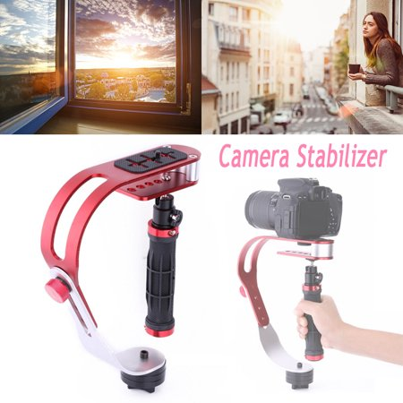 Yosoo Camera Stabilizer Gimbal Handheld Steady Video dslr Stabilizer Handle Grip Steady Support for Canon Nikon Sony Camera Cam Camcorder DV DSLR,Rubber (Best Affordable Dslr Gimbal)