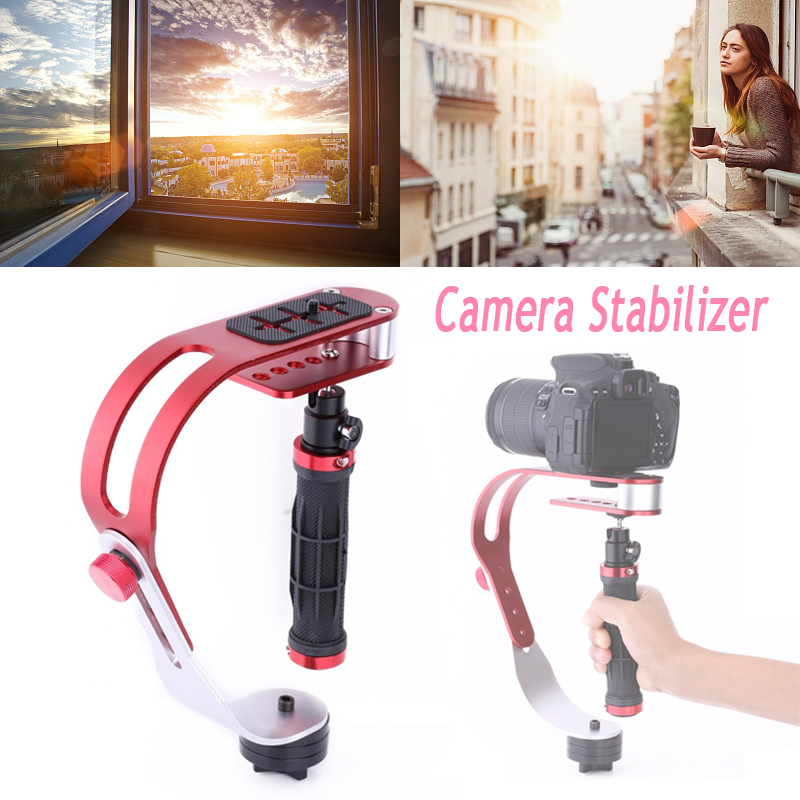 VGEBY Camera Stabilizer Gimbal Handheld Steady Video dslr Stabilizer Handle Grip Steady Support for Canon Nikon Sony Camera Cam Camcorder DV DSLR,Rubber Handle