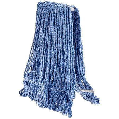Winco Yarn Mop Head, 32-Ounce, 4 Ply Loop End, Blue ()