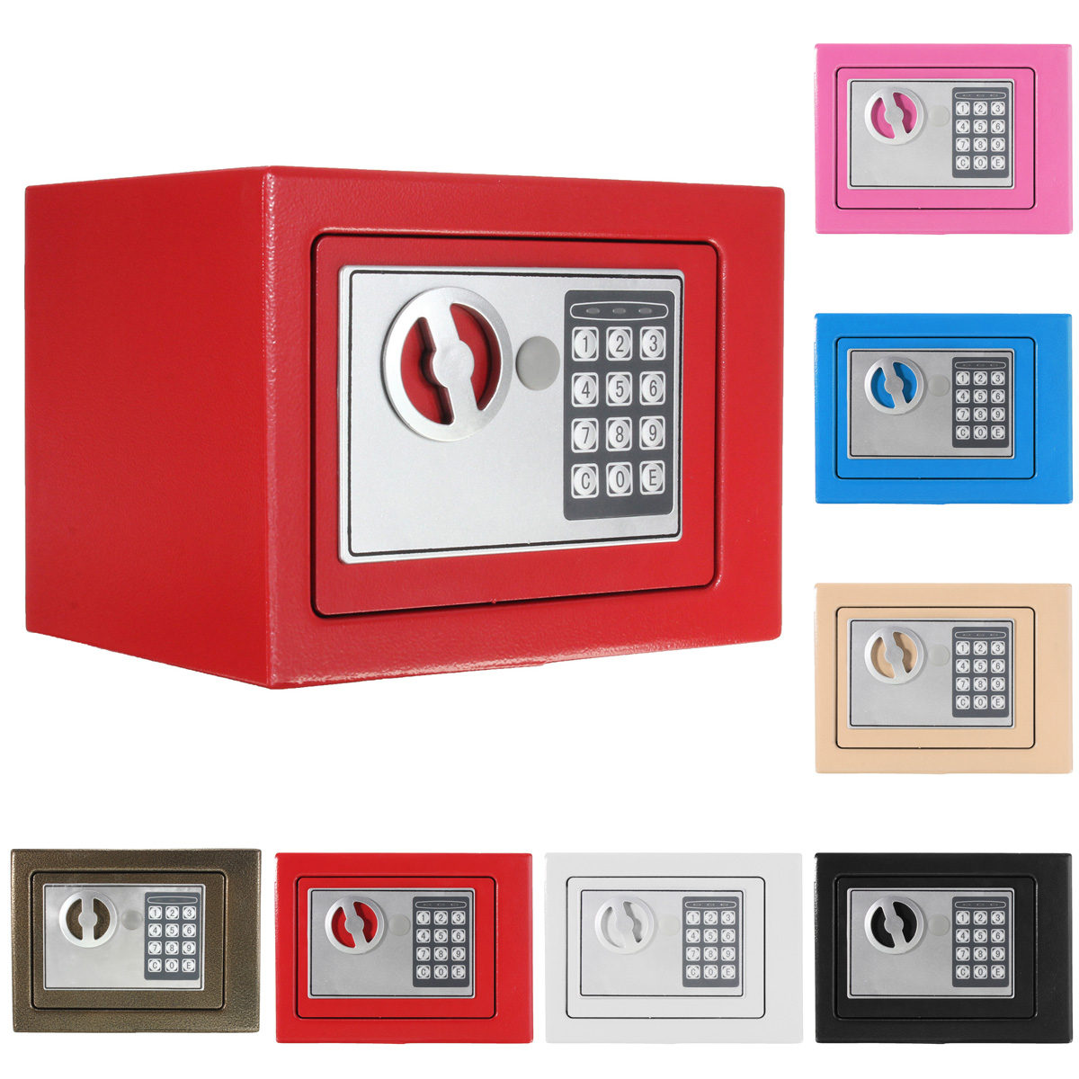 Electronic Safe Box Digital Security Keypad Lock Office Home Hotel Fireproof US