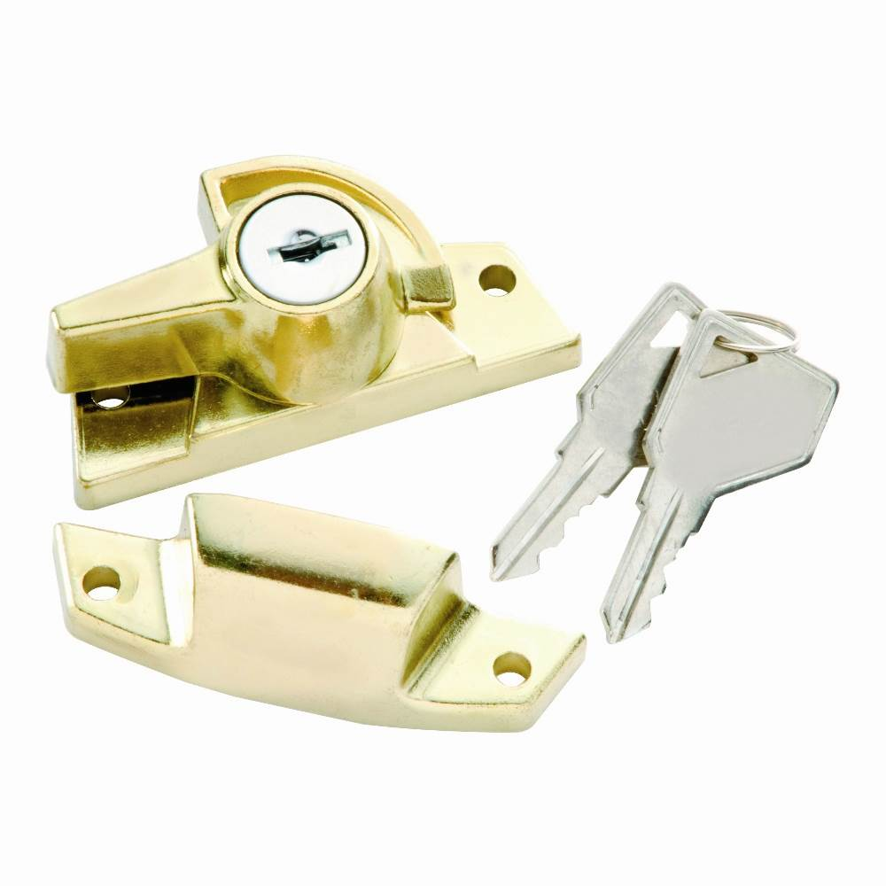 Keyed Sash Lock in Polished Brass (Set of 10) (Keyed Individually)
