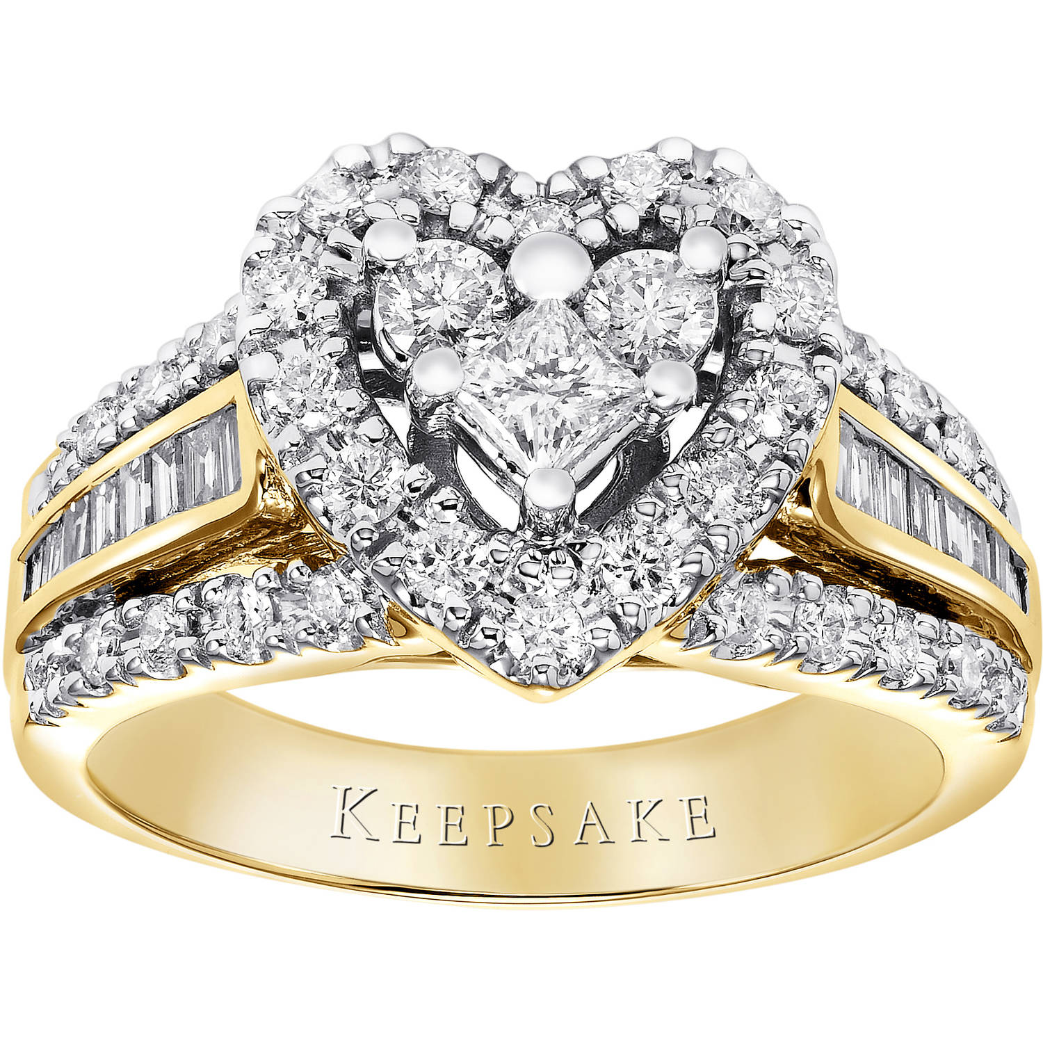 Keepsake Corazon 1.00 Carat T.W. Diamond 10kt Yellow Gold Ring by Frederick Goldman