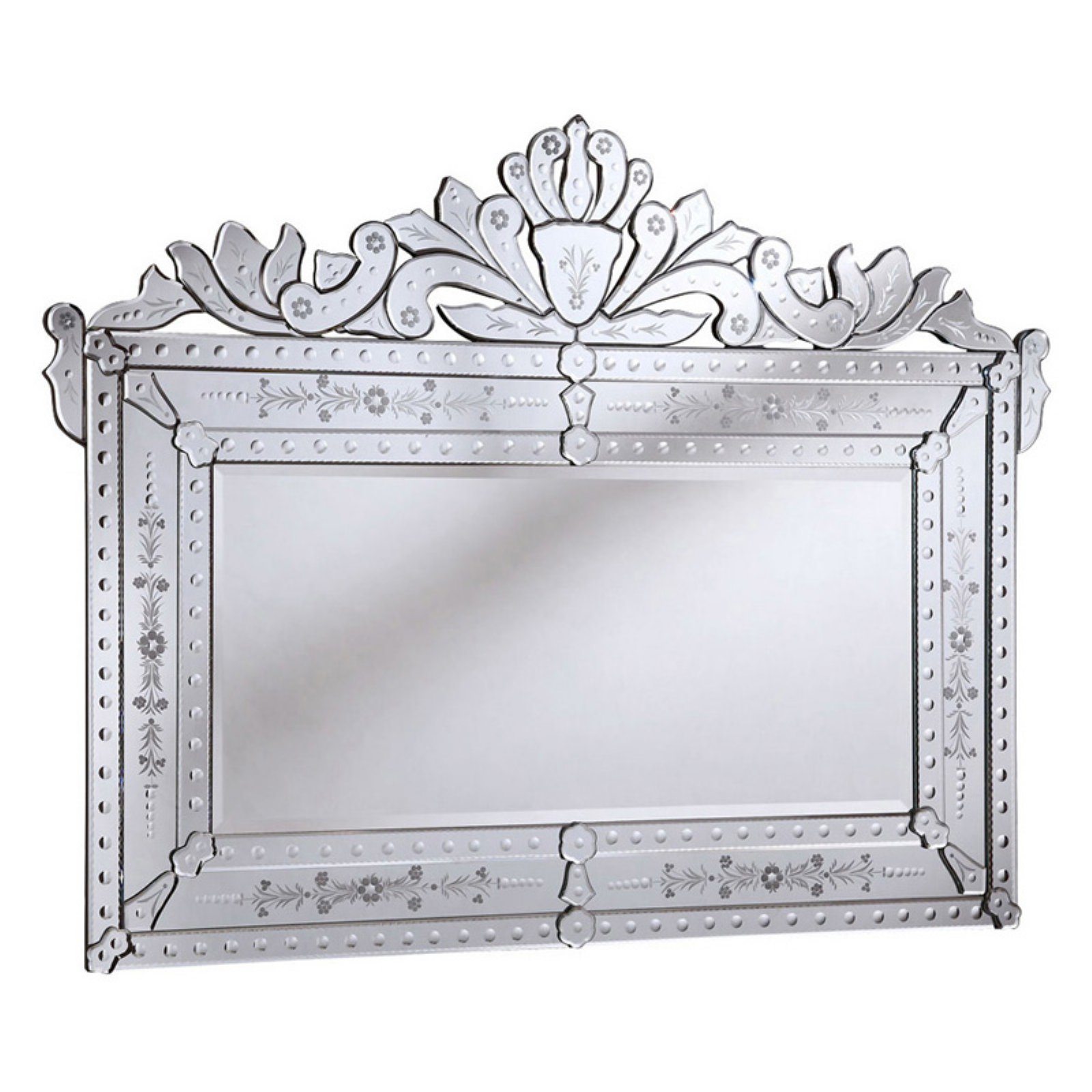 Elegant Furniture & Lighting Venetian Wall Mirror - 59W x 45H in.