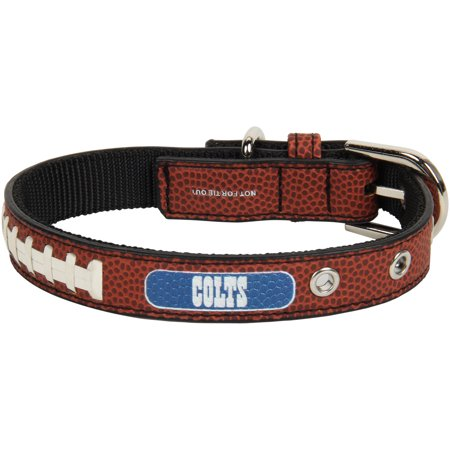 Indianapolis Colts Classic Leather Collar - - Indianapolis Colts Brown Leather