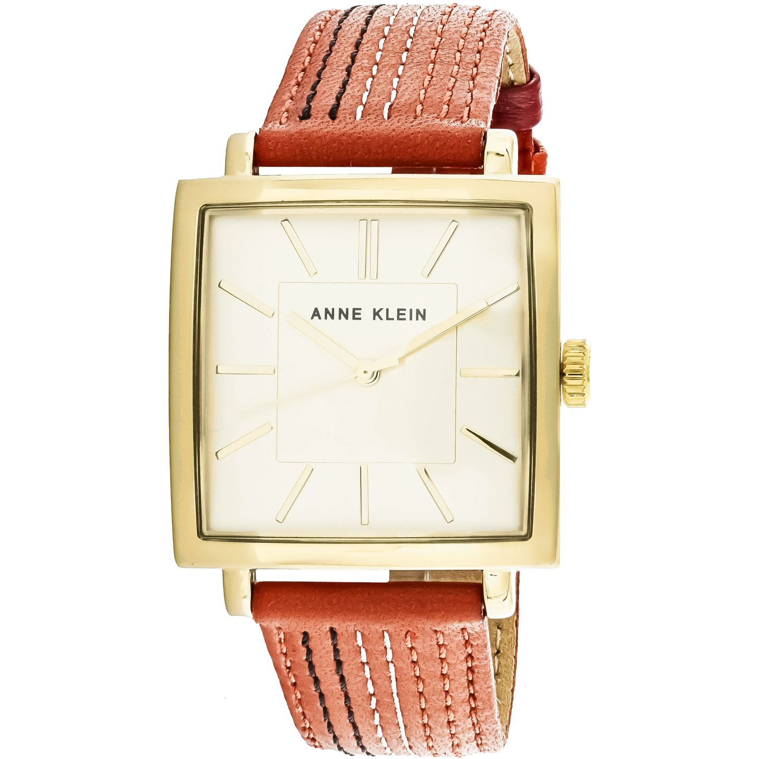 Anne Klein Women's AK-2740CHOR Gold Leather Japanese Quartz Fashion Watch