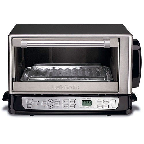 Cuisinart 0.6-cu ft Toaster Oven, Black and Chrome, Refurbished