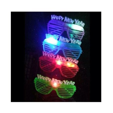 12 Light Up New Years Eve Party Glasses Glowing LED Shades Hot Seller Item - Glowing Glass