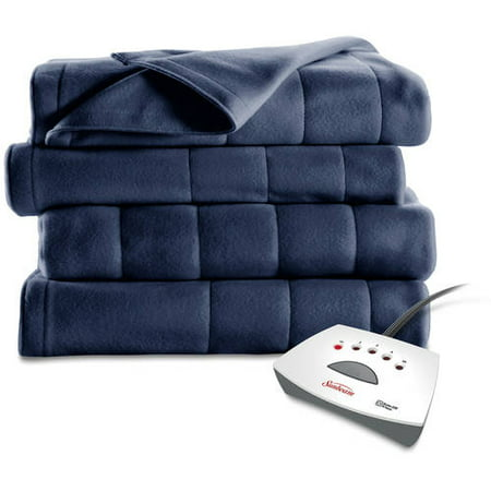 Sunbeam Fleece Queen Electric Blue Heated Blanket, 1 Each