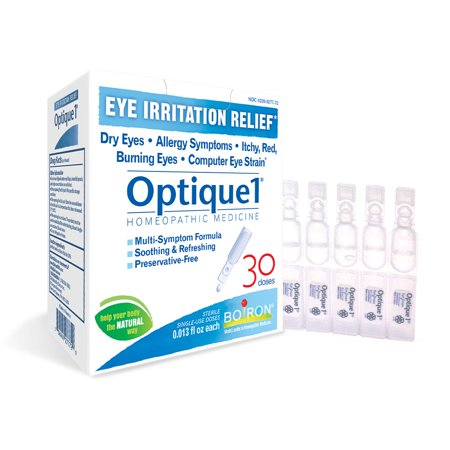 Boiron Optique1 Eye Irritation Relief Drops, 30 (Collyre Bleu Laiter Clear Blue Eye Drops)