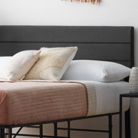 Rest Haven 3 Channel Mid-Rise Headboard - Queen, Black