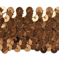 """Expo Int'l 5 yards of 4 Row 1 1/2"""" Metallic Stretch Sequin Trim"""