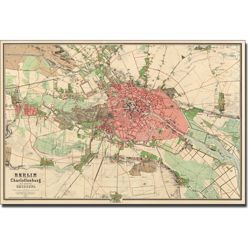 Trademark Art 'Map of Berlin, 1857' Canvas Art