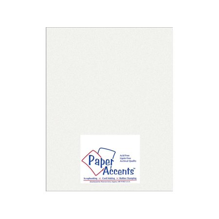 Paper Pearlized 8.5x11 80# Ice Silver 5pc - Silver Papery