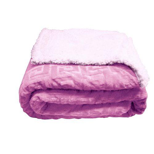 Winston Porter Alderete Textured Sherpa Throw Blanket