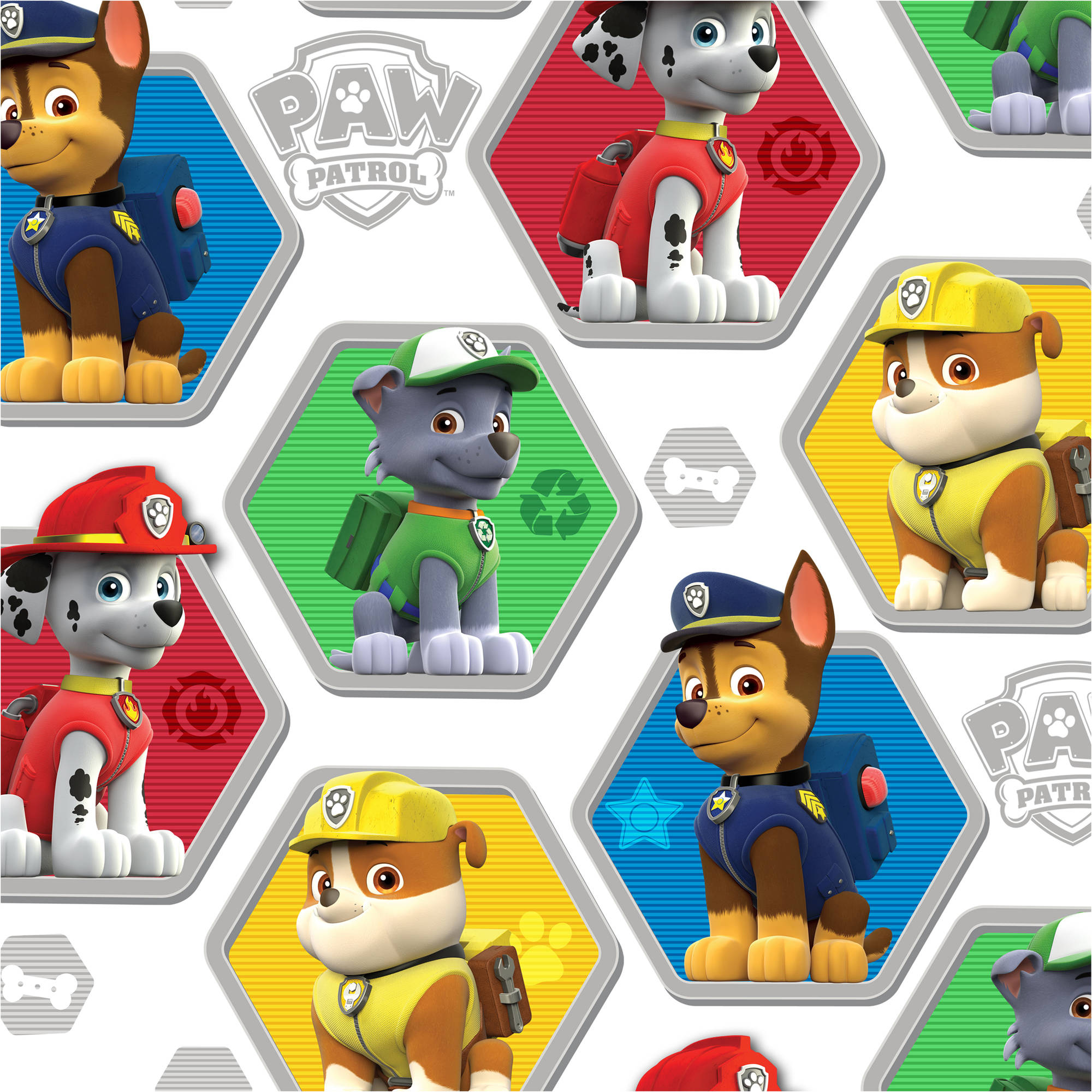 "David Textiles Paw Patrol Rescue 44"" Craft Cotton Fabric By The Yard"