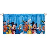 "Disney Mickey Mouse Window Valance, Blue 16"" x 50"""
