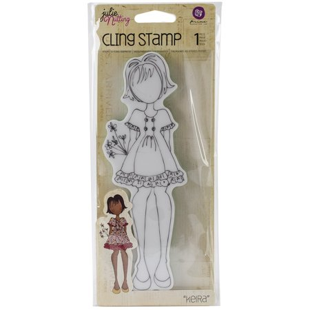 Julie Nutting Mixed Media Cling Rubber Stamps -Kiera, 2.25-Inch by 7.5-Inch, Perfect for all your scrapbook and paper crafting projects! give every project a.., By Prima Marketing Cline Scrapbooking Page Protector
