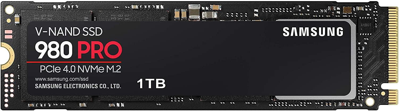 SAMSUNG 980 PRO Series - 1TB PCIe Gen4. X4 NVMe 1.3c - M.2 Internal SSD - MZ-V8P1T0B/AM