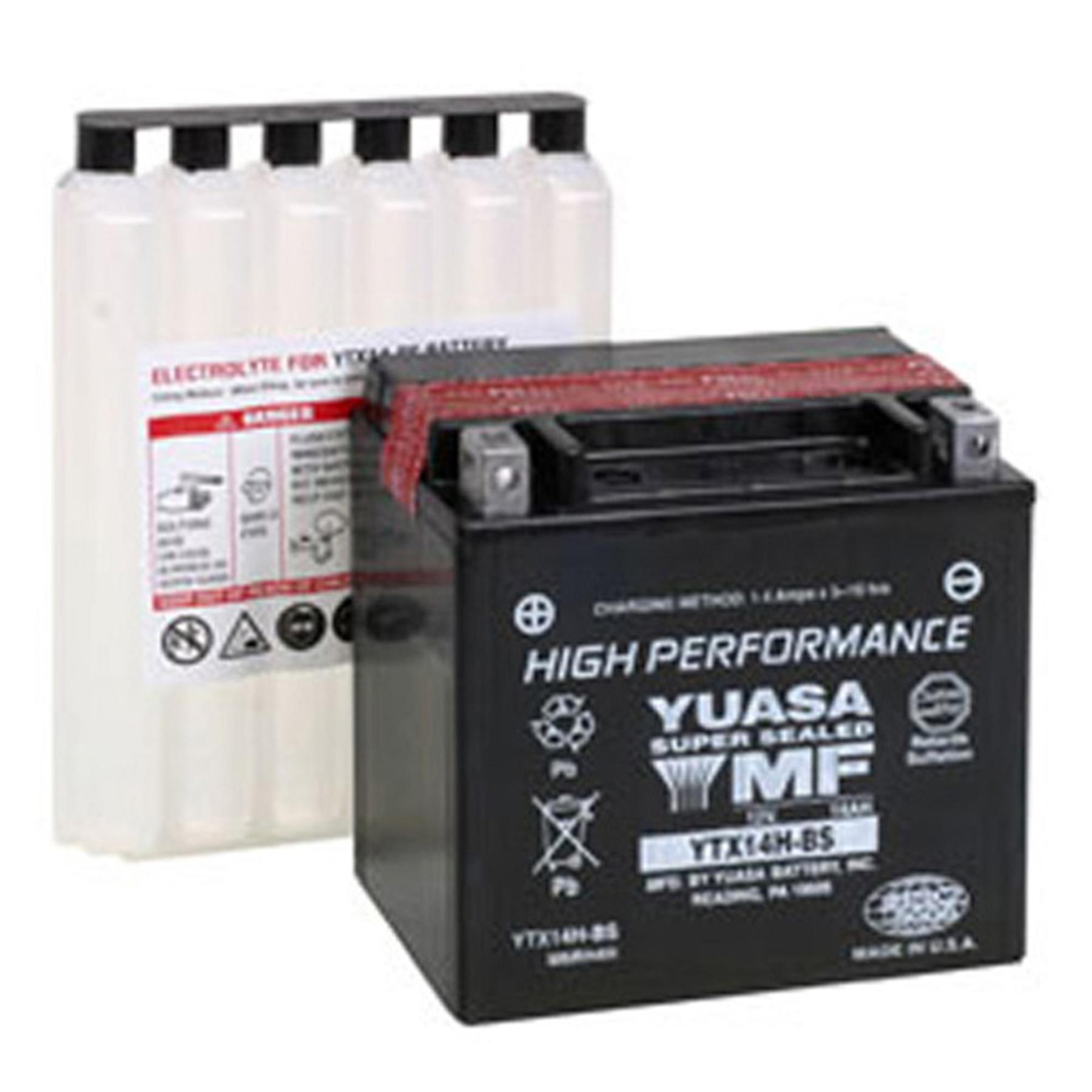 YUASA YTX14H-BS H-PERFORMANCE MF BATTERY
