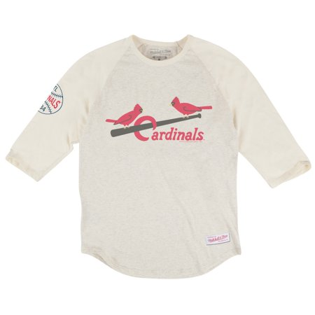 St. Louis Cardinals MLB Mitchell & Ness Top of the Inning Mens 3 4 Sleeve Shirt by