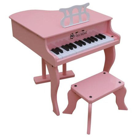 Toy Piano 30 Key Pink Fancy Baby Grand With Bench