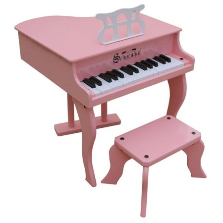 Grand Piano Music Toy - Toy Piano  30 key Pink Fancy Baby Grand with Bench