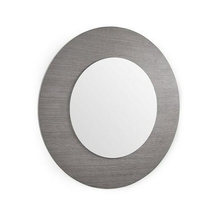 Mirror In All Gray Oak Veneer