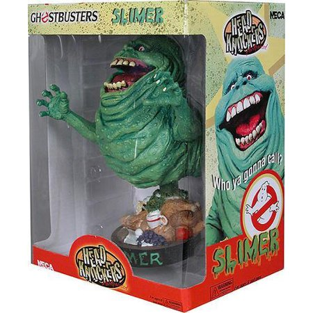 NECA Ghostbusters Head Knockers Slimer Bobble Head - Ghostbusters Slimer Mask