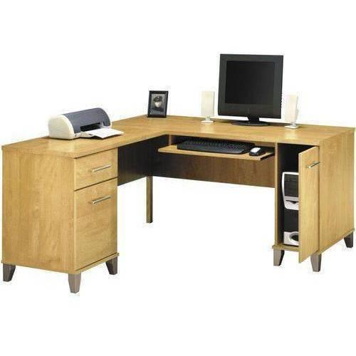 "Bush Furniture Somerset 60"" L-Desk, Maple Cross"