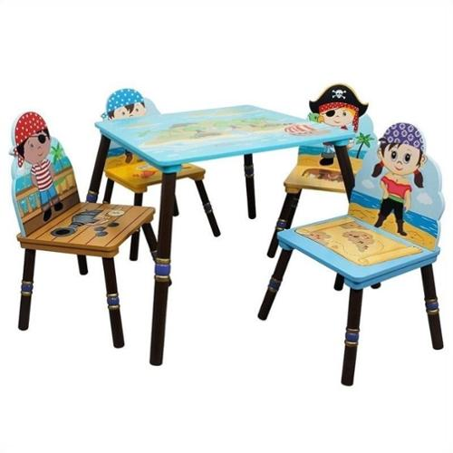 Fantasy Fields Pirates Island Table and 4 Chairs