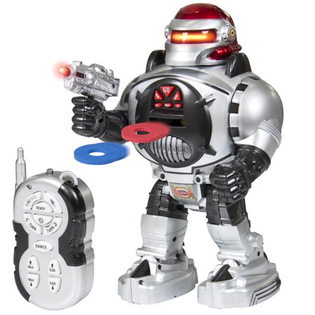 Best Choice Products Kids Battery-Powered Remote Control Disc-Shooting Battle Fighting Robot RC Toy w/ Walking, Talking, Dancing Actions, Lights - (Best Radio Ads Scripts)