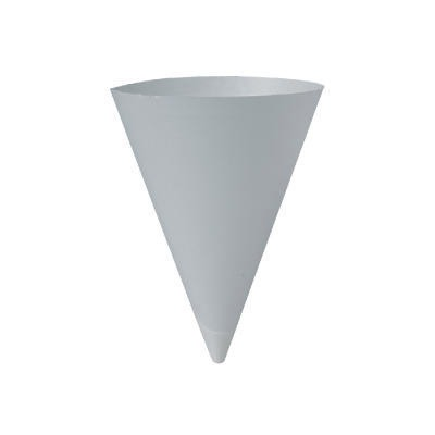 Bare Treated Paper Cone Water Cups, 7 Oz., White, 250/bag...