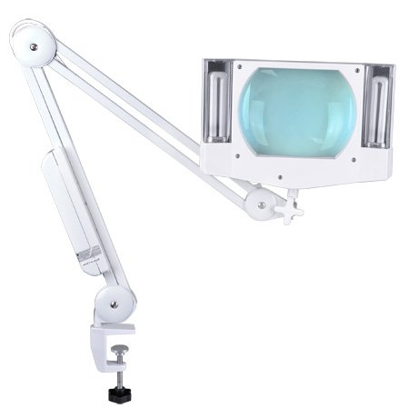 MegaBrand 5x Mag Desk Swing Arm Lamp Magnifier with Clamp by Generic