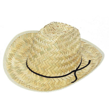 Adult Straw Cowboy Hat Distressed Straw Cowboy Hat