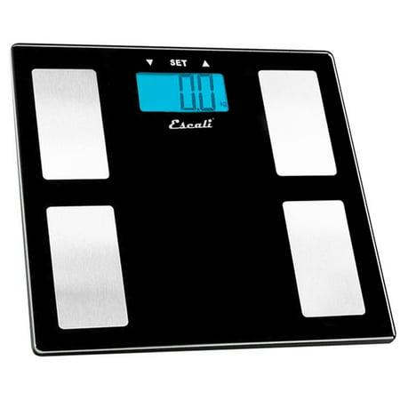 Escali - Body Fat, Water, Muscle Mass Digital Bathroom Scale USHM180G Black Glass